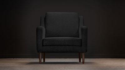The Jet Stream Armchair, Black Wool