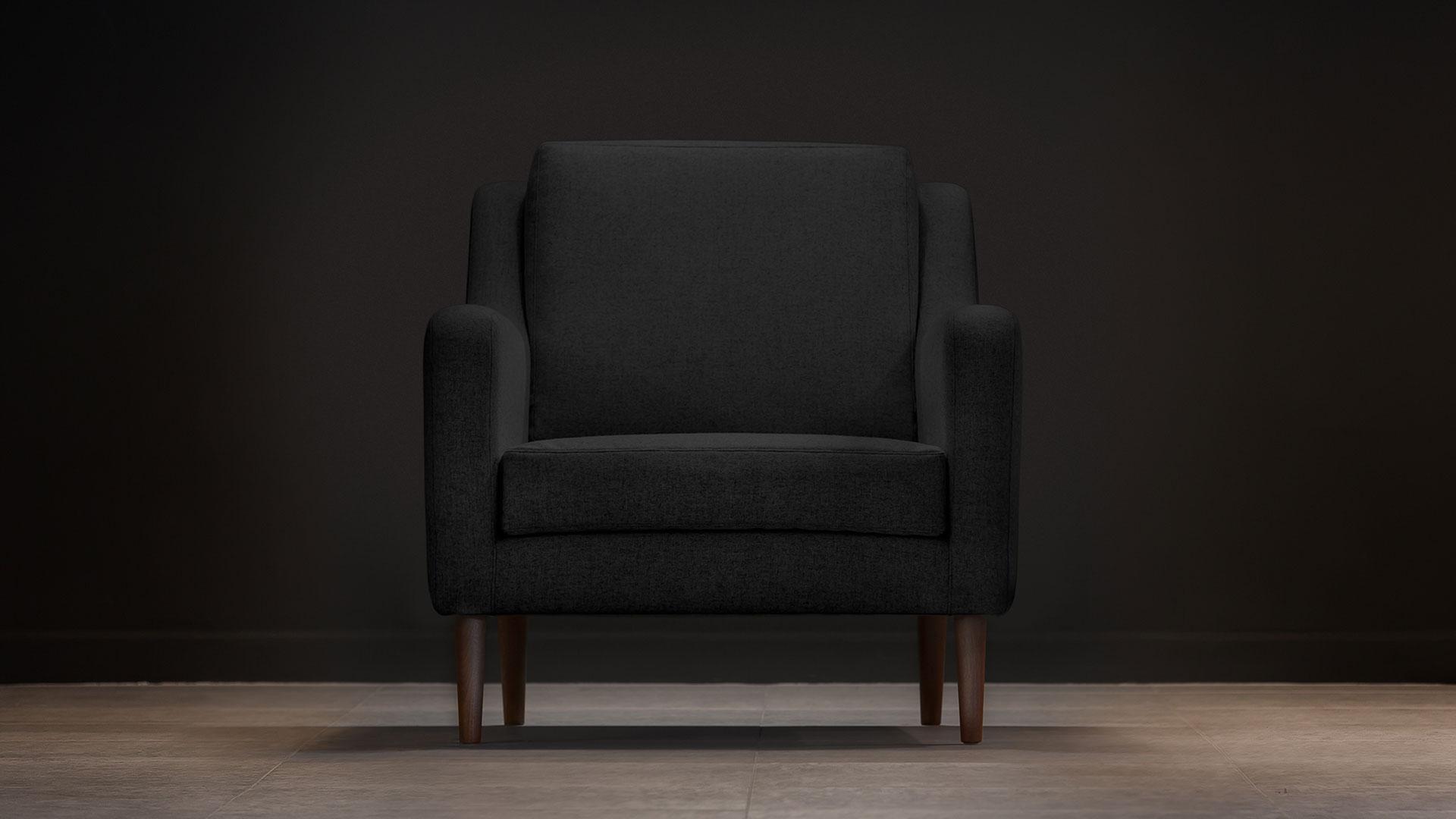 jet stream armchair black front