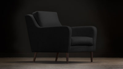 The Jet Stream Armchair, Black Wool