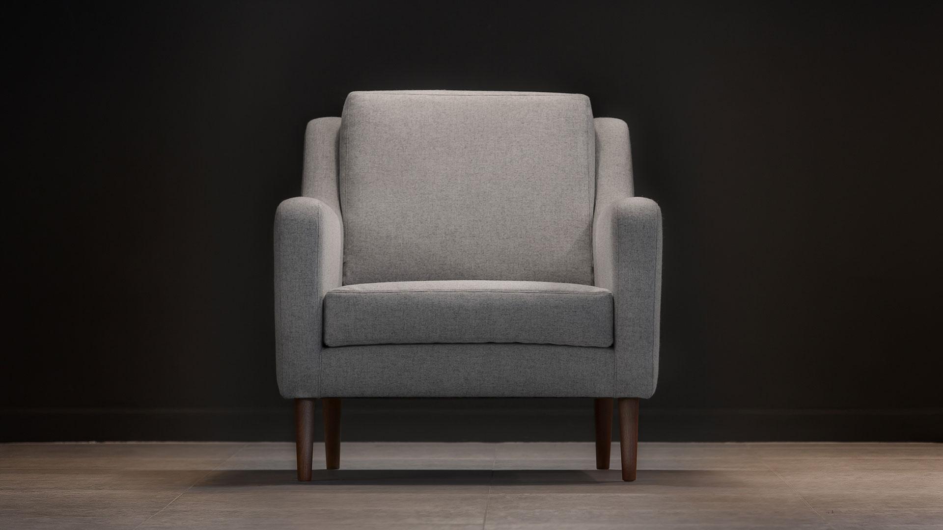jet stream armchair grey front