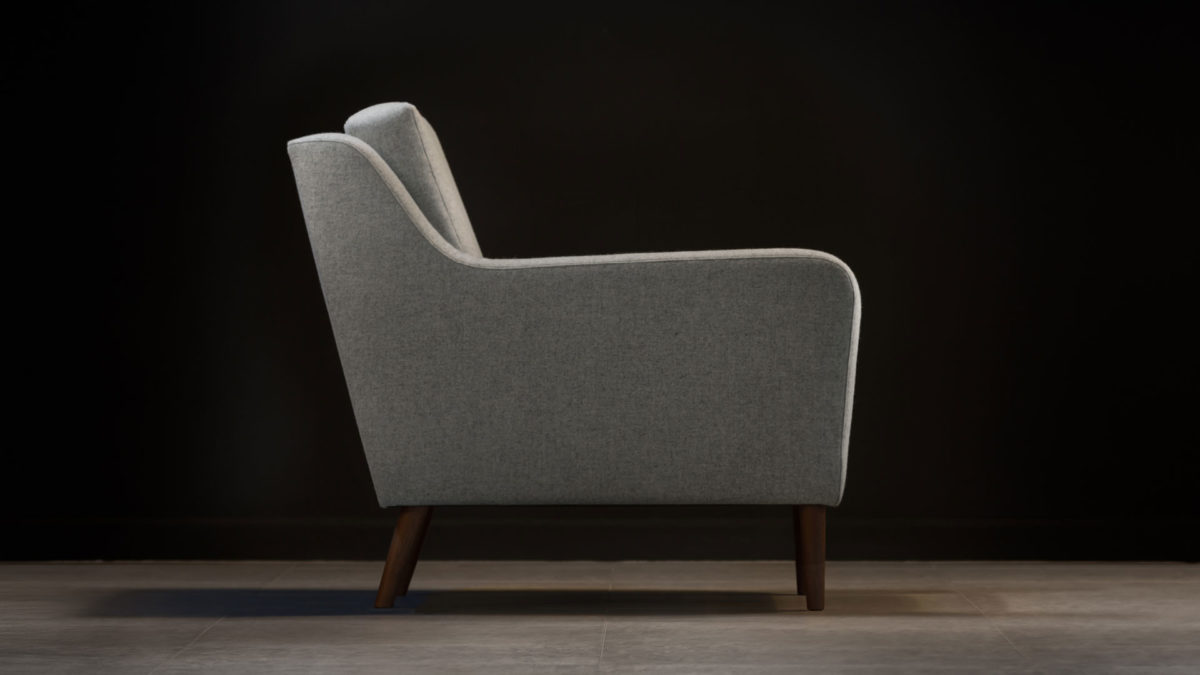 The Jet Stream Armchair, Grey Wool