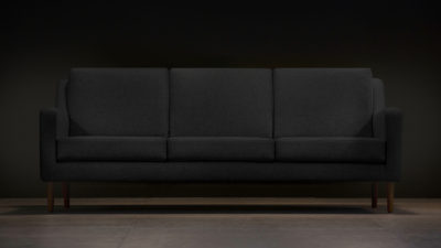 The Jet Stream Sofa, Black Wool