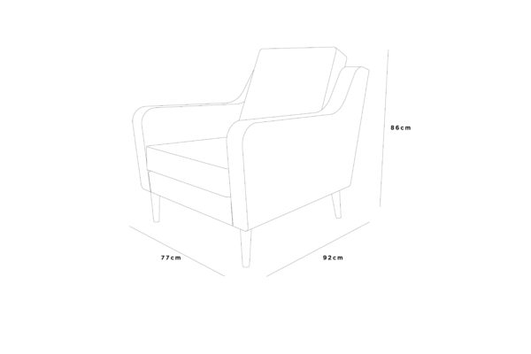 jetson lounger 77x92x86 fabric sketch